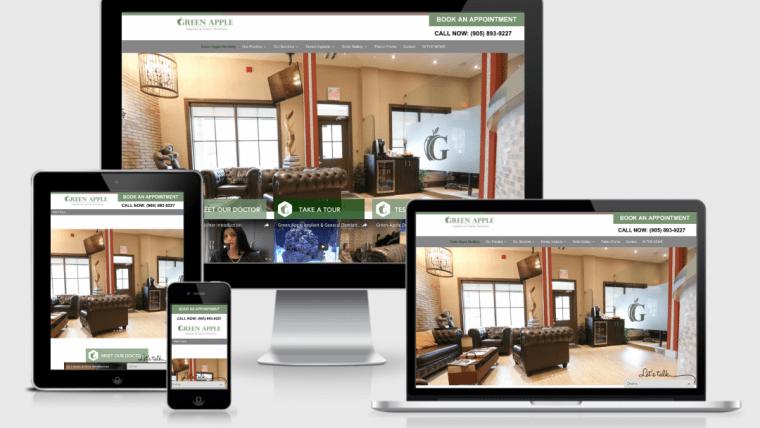 Green Apple Dentistry Website ReDesign